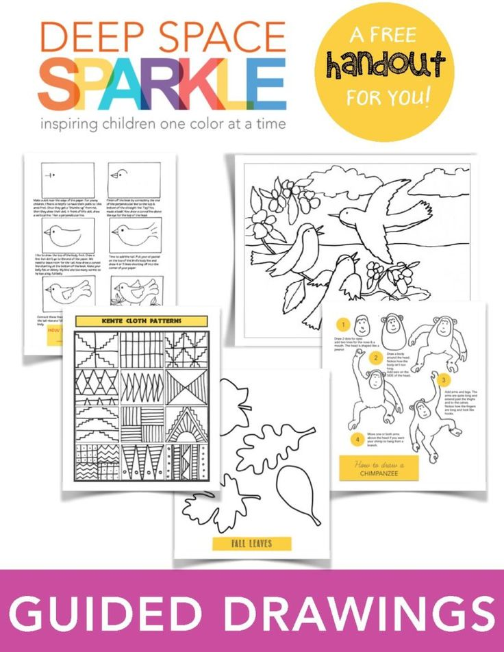 Guide to Guided Drawing. Helping adults teach art to children.  by Deep Space Sparkle