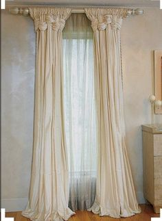 This is my Pinterest inspiration. I really liked the drippiness and the weave - an interesting detail I had never seen done before. My version is fuller so that they can actually function to close if needed. The window in the dormer alcove is scaled down: shorter and more narrow.