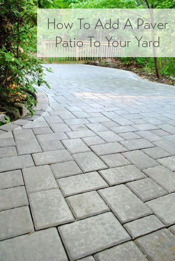 How to add a paver patio (it's not super easy but it's not crazy hard either - and so worth it!)