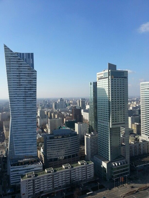 Warsaw city view from PKIN