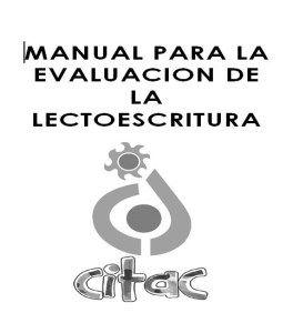 Aula pt: MANUAL PARA LA EVALUACIÓN DE LA LECTOESCRITURA