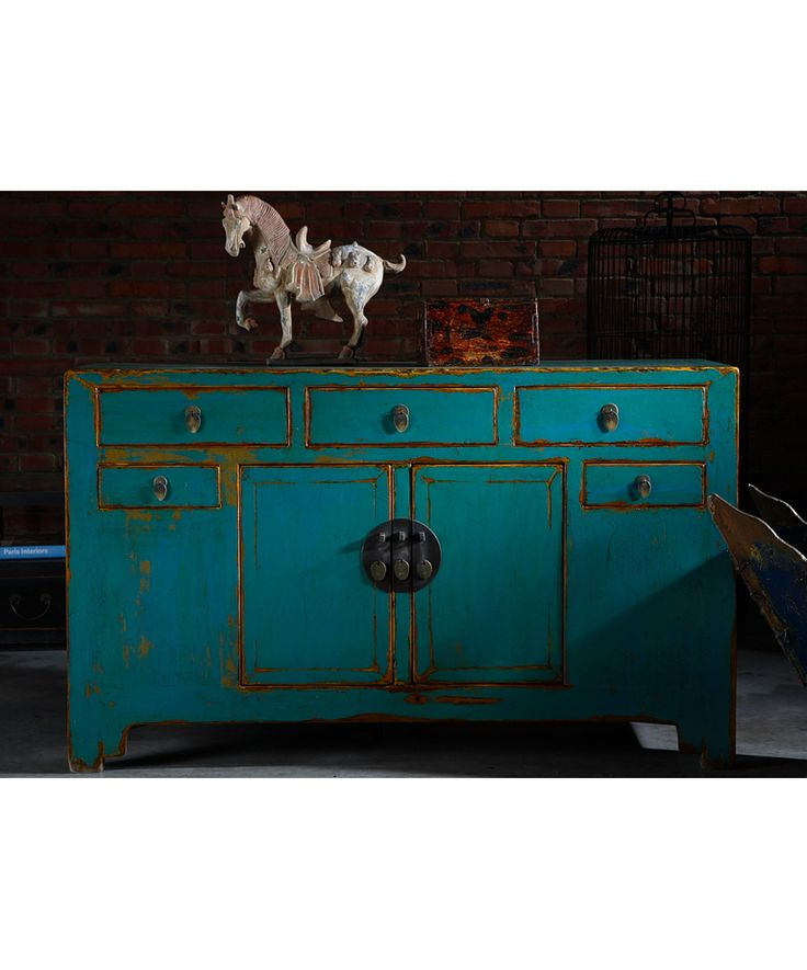 Shanxi Sideboard Turquoise Blue - Chinese Furniture