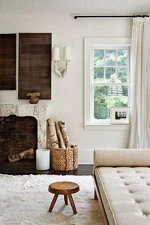 East Hampton home - Julie Hillman | Daily Dream Decor i want this for my living room as a divider from the kitchen. Provides seating with an open feel.