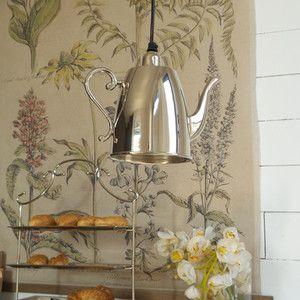 Stropní svítidlo ve tvaru čajové konvice Orchidea Milano Kettle Plata,22cm