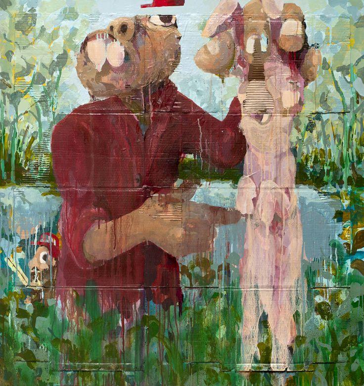 """""""Rabbit Hole II"""" mixedmedia, 124 x 117 cm, 2014 contemporyistanbul 14"""