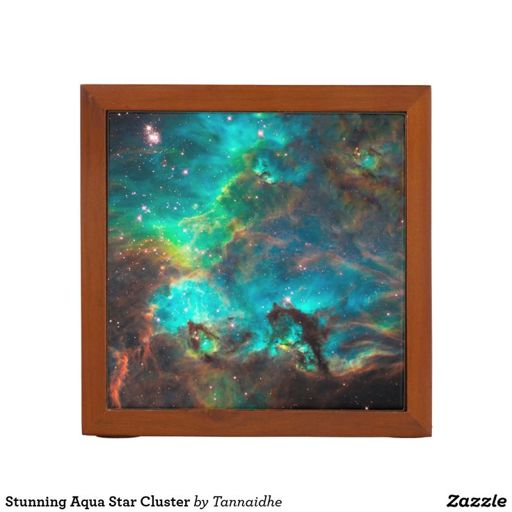 Stunning Aqua Star Cluster Desk Organizer