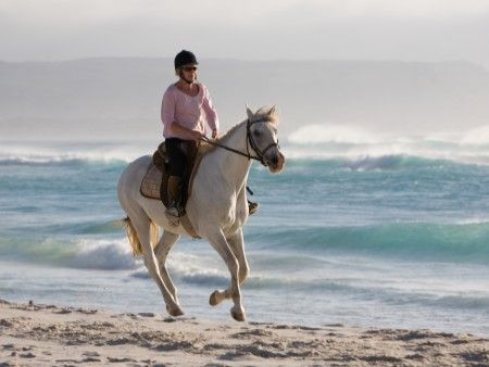 #HorseRiding #Noordhoek Beach #CapeTown Photo: Peter Haarhof  http://www.capepointroute.co.za/moreinfoOther.php?aID=68