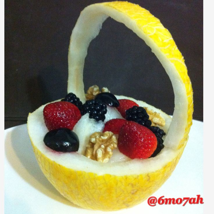 #fruits #strawberry #walnuts #berrys #melon