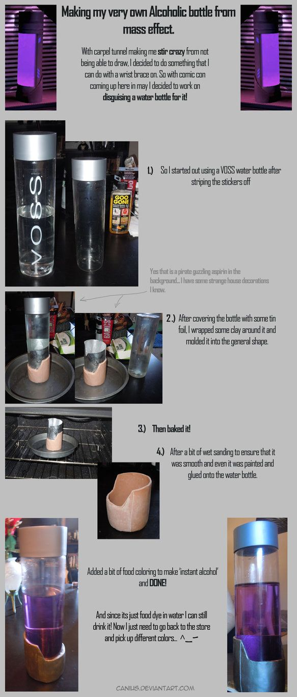 DIY: Mass Effect 'Alcohol' Bottle by canius