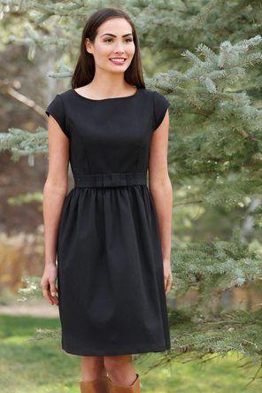 Blitzen Fit and Flare Black Dress