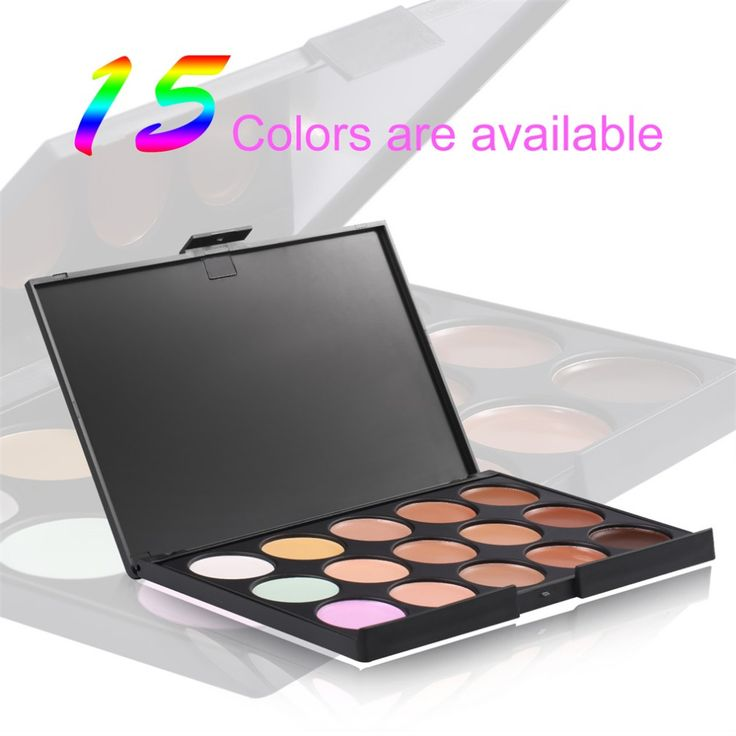 1pc 2016 Professional 15 colors Concealer Neutral Palette makeup tools scar cream Face concealer Camouflage Makeup. Click visit to buy #EyeShadow