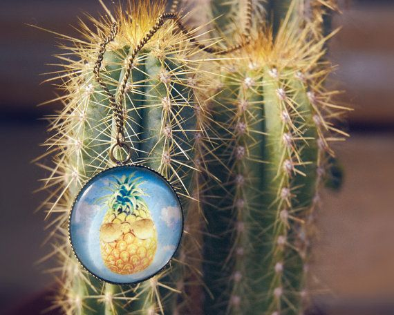 """Collier """" Let's go surfing - Ananas"""""""