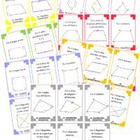 Edit du 19/06 : Ajout de la famille Quadrilatère quelconque + Cartes récapitulatives des différentes familles Edit du 20/06 : Ajout du verso des cartes    Toujours pour terminer cette fin...