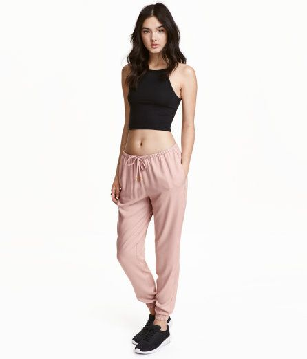 Joggers | Powder pink | Ladies | H&M US