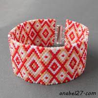 Схема браслета из бисера - Free peyote bracelet pattern