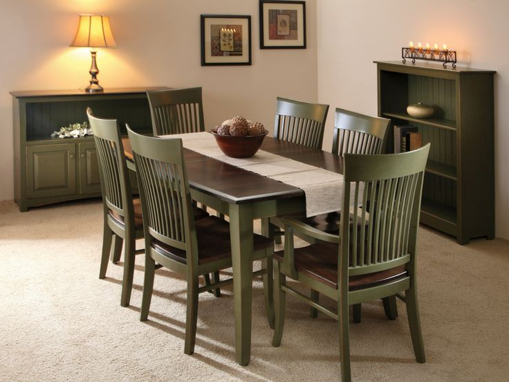 Select the Cambridge Dining Room Collection for a warm country style dining room.