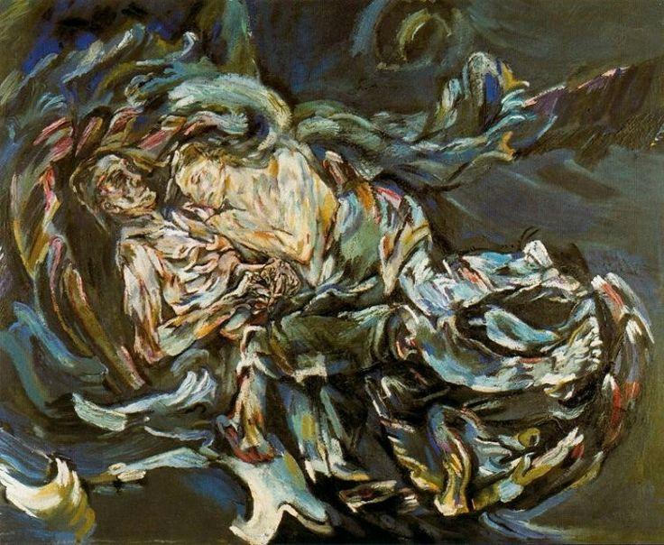 Oskar Kokoschka, 1886-1980, expresionismo, australiano, La tempestad, (La novia de los vientos) , 1914, óleo sobre tela, 71 x 86 cm. This painting was banned by the Nazi regime and exhibited at the Degenerate art exhibition in Munich in 1937.