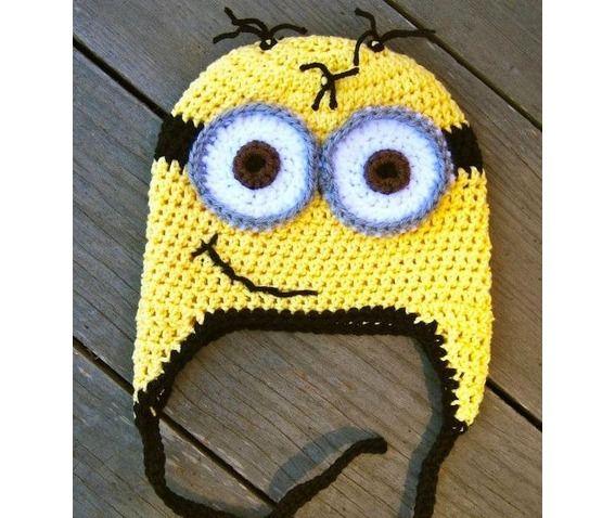 Knitting Pattern For Minion Beanie : 1000+ ideas about Minion Beanie on Pinterest Sweater hat, Crochet minion ha...