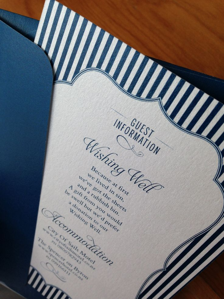 Sheree and Jeremy picked the Regal, off-the-rack design, and customised it with their own blue and a envelope to match. All printed on a Metallic Ice Silver paper stock.   Custom Design © Paper Wedding 2014