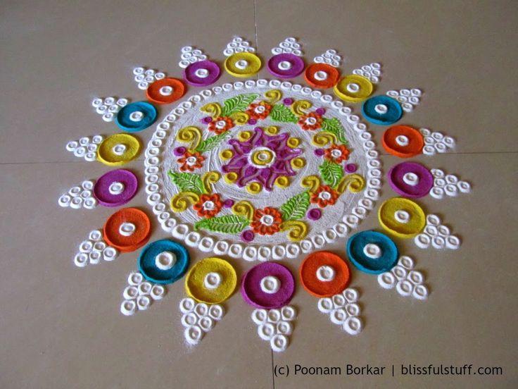 Beautiful and innovative multicolored  rangoli | Creative rangoli design...