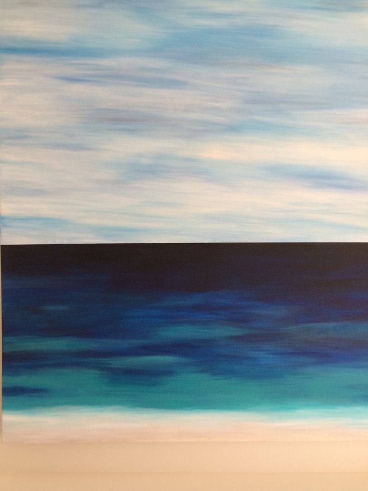 Acrylic beach painting. I painted this for our entrance hallway :)