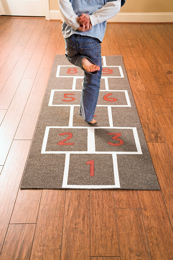 Fun is just a hop, skip, and jump away with this easy to assemble runner.