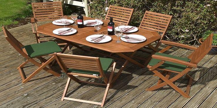 6 Seater Wooden Garden Furniture Sets