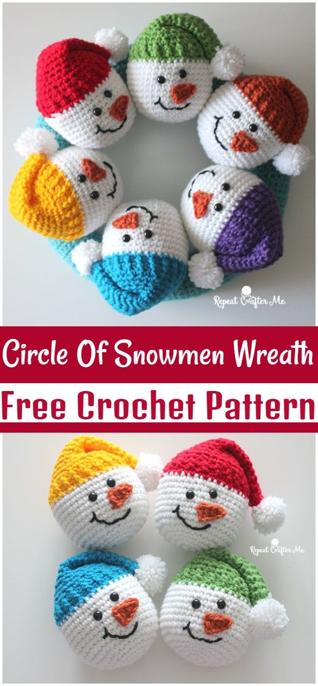 Free Crochet Christmas Wreath Patterns To Make Your Holiday More Memorable In 2020 Crochet Christmas Wreath Christmas Crochet Patterns Crochet Wreath Pattern