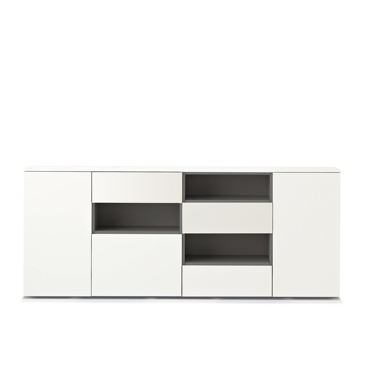 Mix Sideboard with asymmetrical open shelves