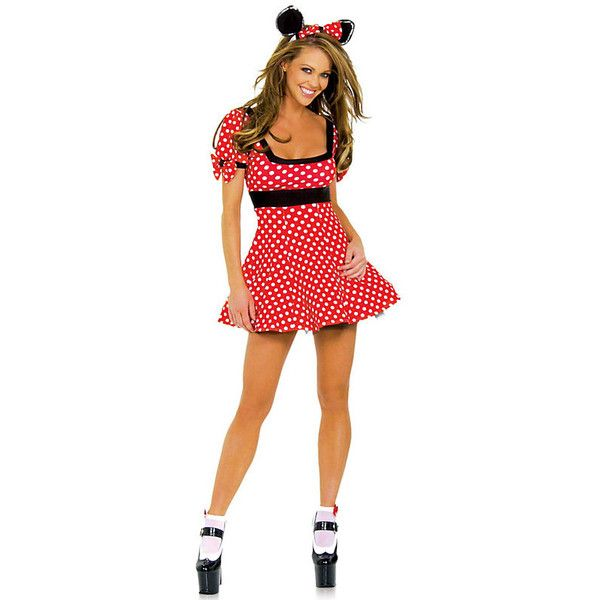 Mouse Sexy Adult Costume (£33) ❤ liked on Polyvore featuring costumes, halloween costumes, multicolor, sexy minnie mouse costume, red costumes, minnie mouse halloween costume, sexy costumes y mouse halloween costume