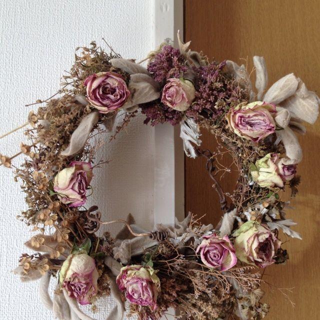 薔薇のドライフラワーリース | お花を育てる自然界の女神 - 楽天ブログ