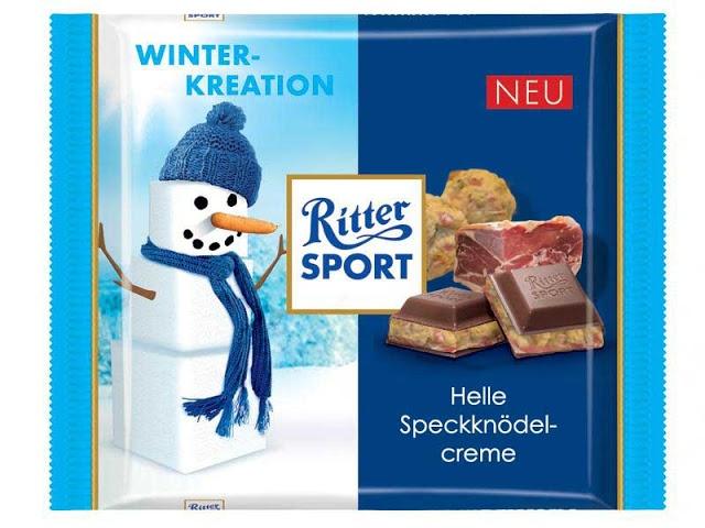 RITTER SPORT Fake Schokolade Helle Speckknödelcreme