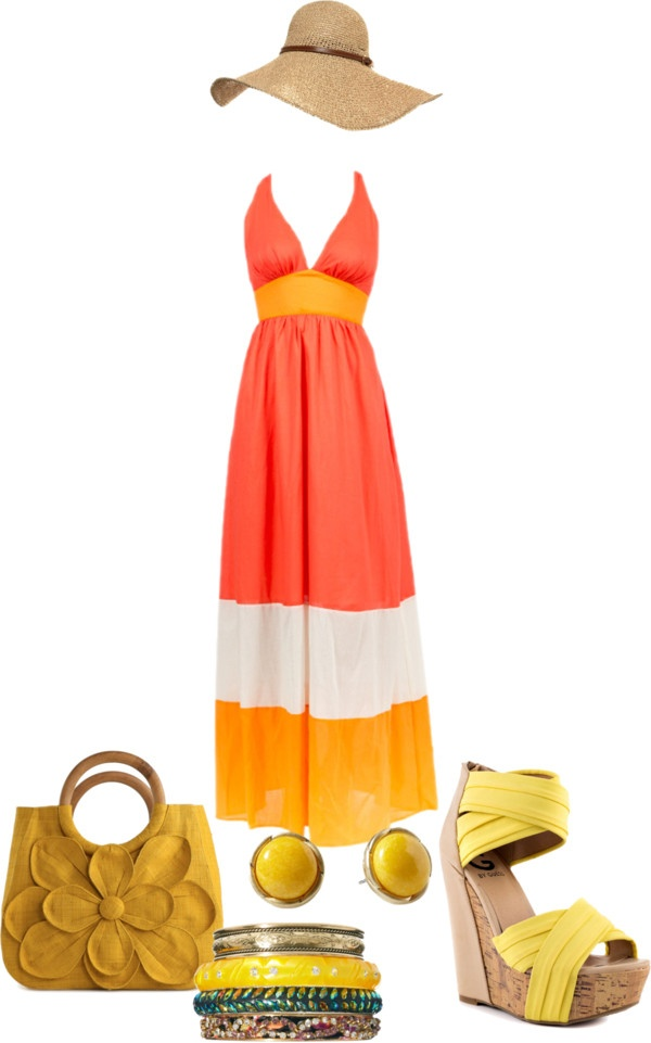 """""""Maxi Dress Look"""" by divacrafts on Polyvore"""