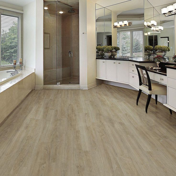 Who Installs Flooring For Home Depot: TrafficMASTER Cayman Ash 6 In. X 36 In. Luxury Vinyl Plank