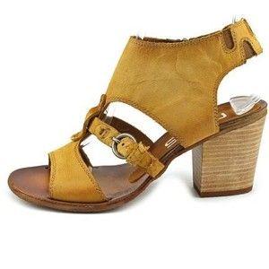 Mel Women Open Toe Leather Tan Slingback Sandal