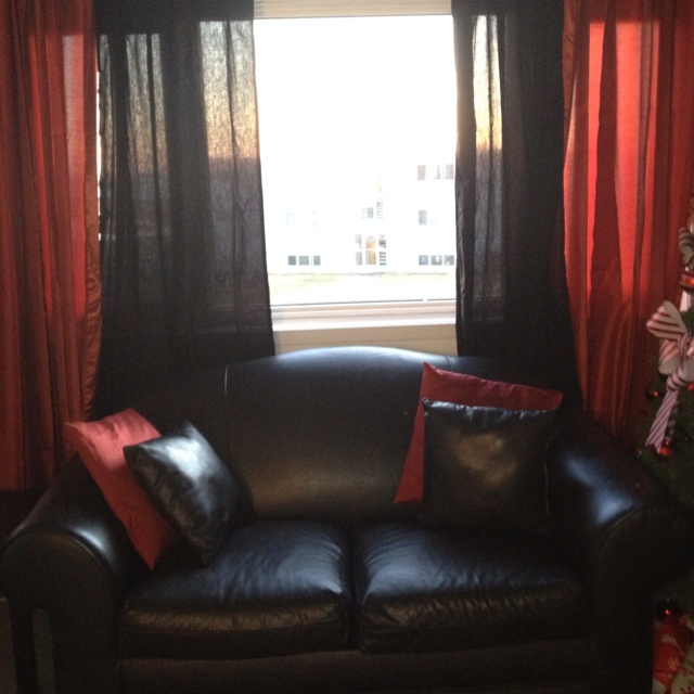 My Red And Black Living Room