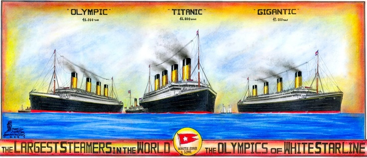 """The Olympians - With one exception, the Gigantic was renamed the Britanic because Harlon & Wolf felt the name """"Gigantic"""" gave an air of arrogance."""