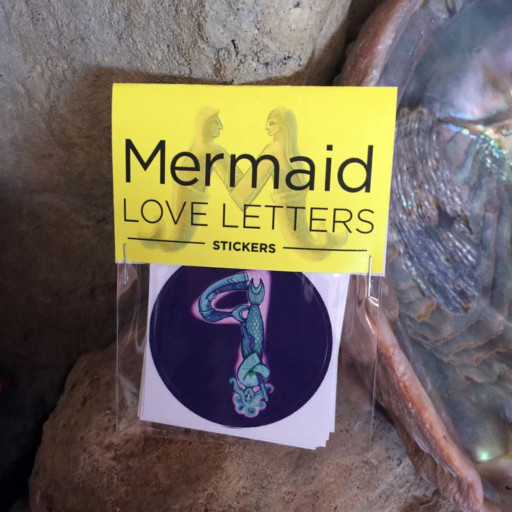 "Mermaid Love Letters Number Set Includes: 10 2"" stickers that are the numbers 0-9.  How do you communicate your love for yourself, love for the oceans, love for the earth, love for others? Mermaid Love Letter stickers can help you communicate your love! They are inspired by mythic images of mermaids, real life mermaids, divers, beach lovers, free divers and the sea itself."