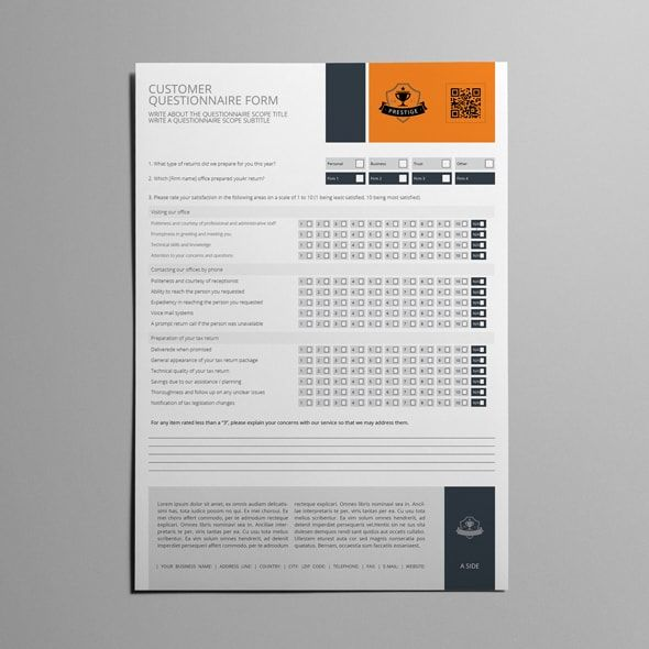 Customer Questionnaire Form