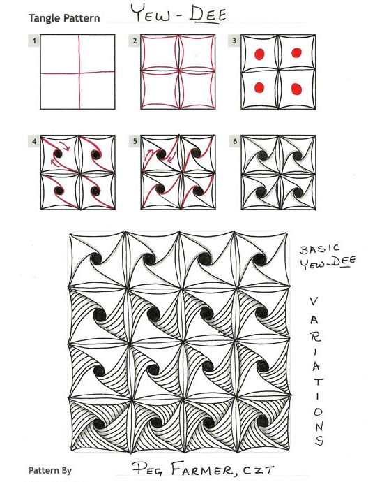 How to draw YEW-DEE « TanglePatterns.com - Pinned with Pin Anything from pin4ever.com