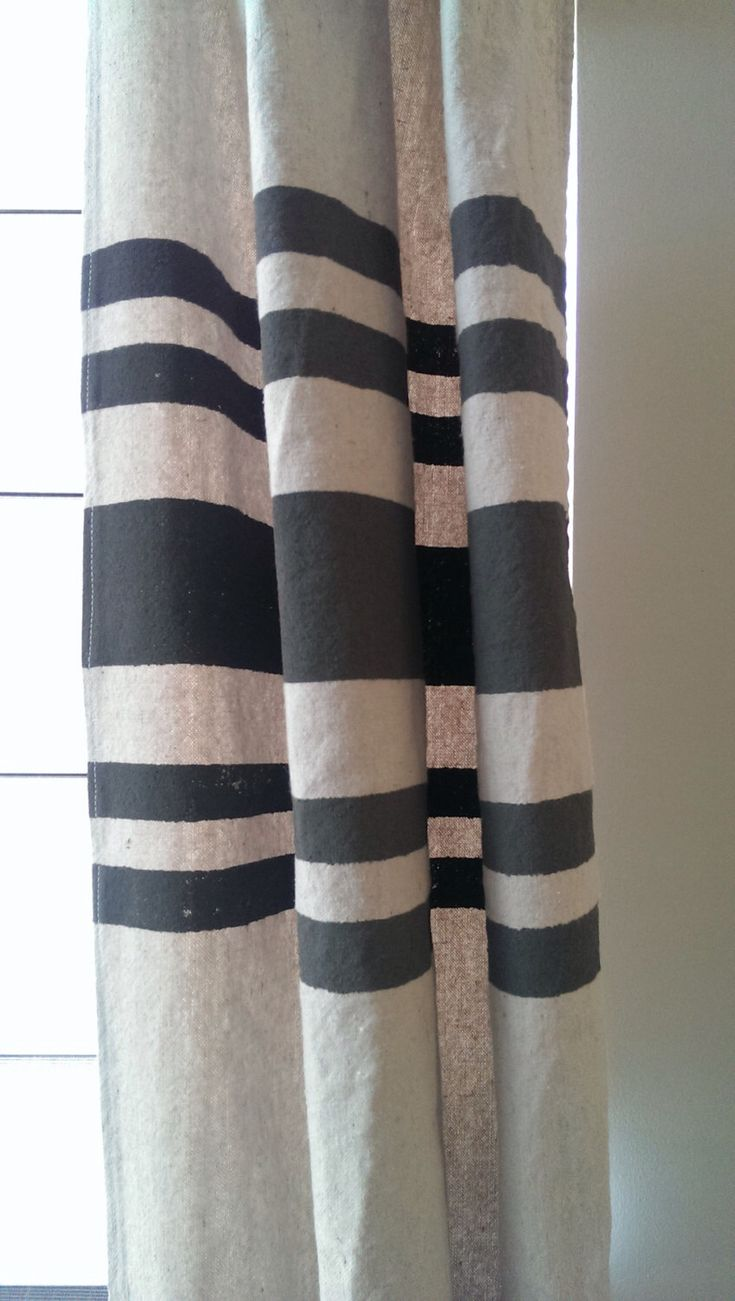 Handmade and Hand Painted Drop Cloth Curtains - Grain Sack by RMichaelCreations on Etsy https://www.etsy.com/listing/233439255/handmade-and-hand-painted-drop-cloth
