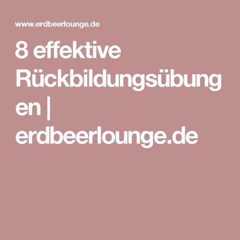 8 effektive Rückbildungsübungen   erdbeerlounge.de