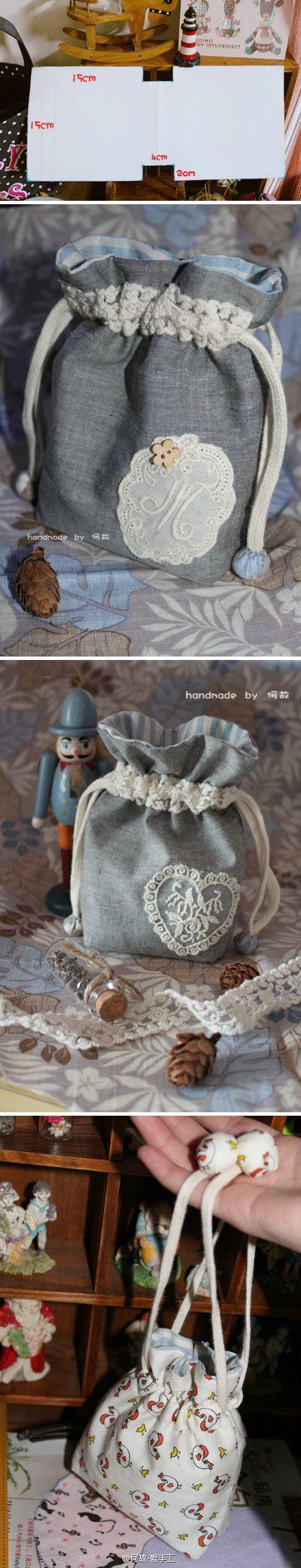 可爱束口袋图纸_来自巧妈蜜乐儿的图片分享-堆糖网