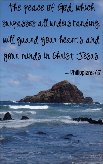 The peace of God, which surpasses all understanding, will guard your hearts and your minds in Christ Jesus. ~ Philippians 4:7 #bibleverses