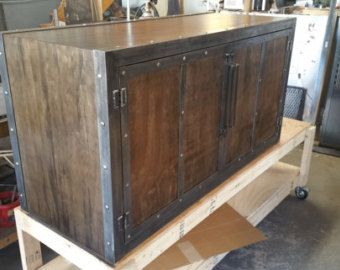 industrial media furniture. bois rcupr rustique industrial media cabinet 043 style furniture e