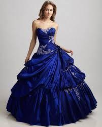 Resultado de imagen para vestidos de quince años azules