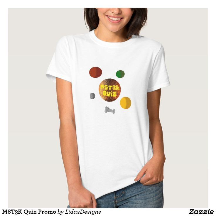 MST3K Quiz Promo Women's Basic T-Shirt for the android application #cool #mst3k #humor #science #geek #nerd #awesome #quiz #mystery #theatre #3000