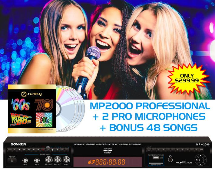 professional karaoke machine with songs