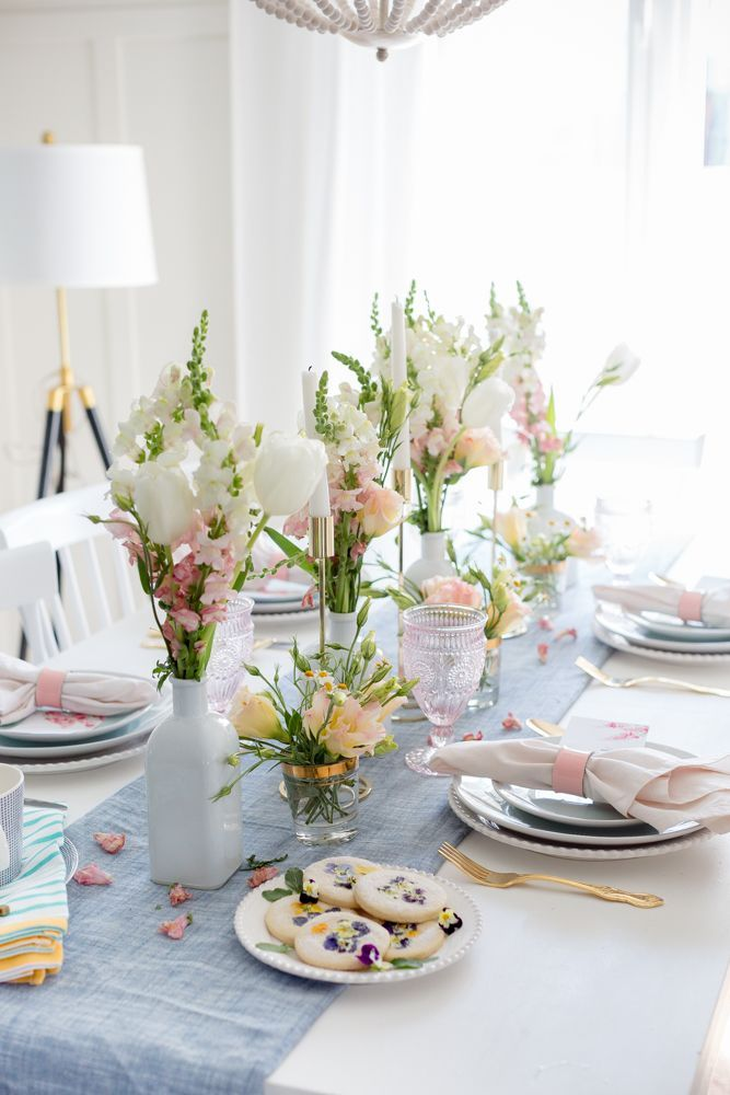 Mother S Day Tablescape Brunch Table Setting Tea Party Table