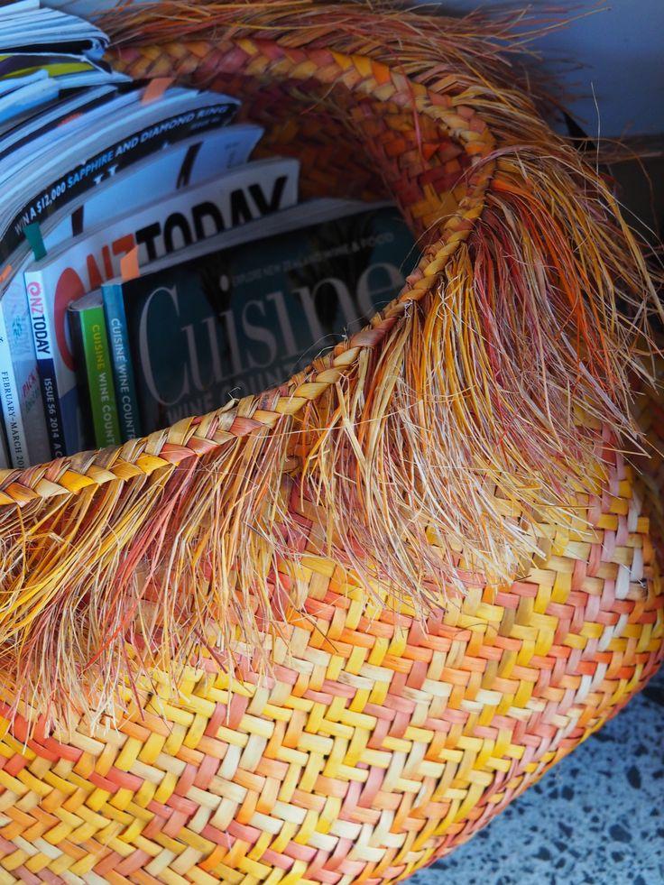 Flax weaving by Janie Ranserson